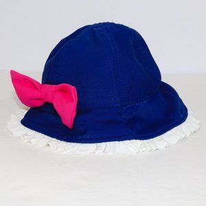 Koala Kids Blue Pink Bow Bucket Hat 0-3 Months